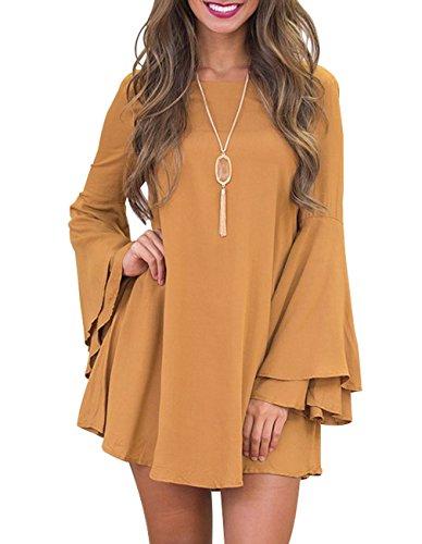 Sanifer Womens Khaki Flared Sleeve product image