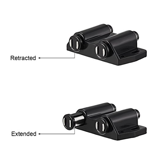 uxcell Double Magnetic Touch Catch Latch Plastic PE Black for Cabinet Door Shutter 5Pcs by uxcell (Image #2)