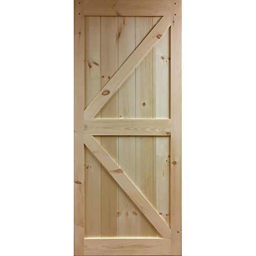Barn Door Knotty Pine K-Rail Unfinished 83.5 in x 36 in. by Kimberly Bay®