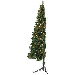 Home Heritage 7-Foot Pre-Lit LED Artificial Half Christmas Tree