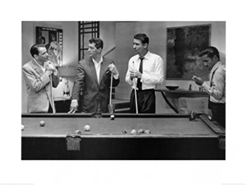 (Pyramid America The Rat Pack Playing Pool Frank Sinatra Dean Martin Sammie Davis Jr Motive Poster 31.5x23.75 Inch)