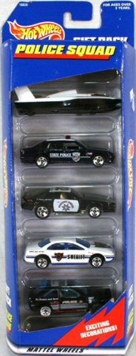 Hot Wheels Police Squad 5 Car Gift Pack 1:64 Scale Collectib