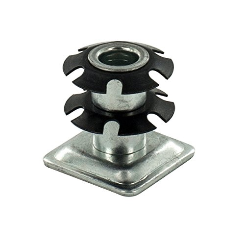 (Pack of 20) Outwater Square Double Star Metal Caster Insert with Thread DS71-326. Thread: 3/8-16, Outside Diameter of Tube: 1