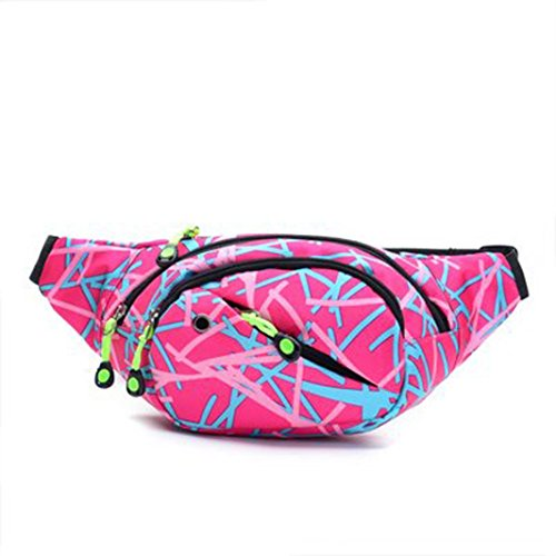 Price comparison product image Lavany Women Men Outdoor Sports Camo Waist Pack Bicycle Cycling Sport Belt Bag (Pink)