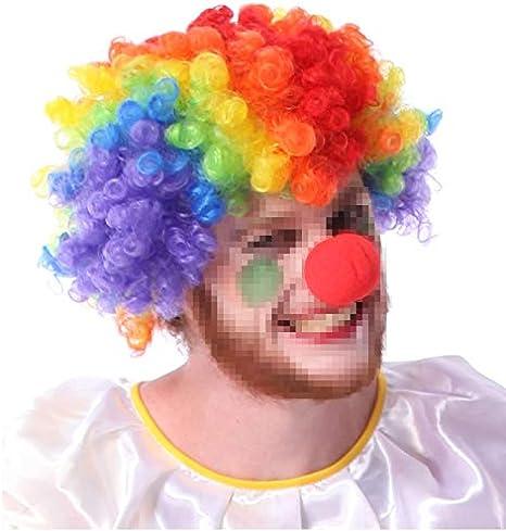 Baanuse Clown Perruque et Nez pour Enfants Adultes Masquerade Costume Cosplay