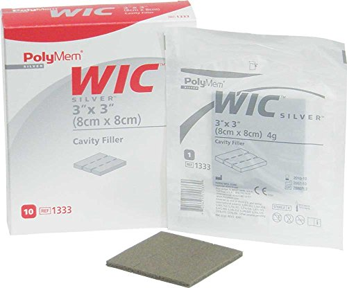 - PolyMem WIC Non-Adhesive Wound Dressing, Cavity Filler, Foam, 3' X 3', 4 Grams, 1333 (Case of 20)