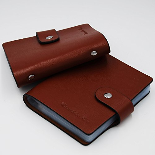Ramble On Genuine Leather Business Card / Credit Card Holder - Compact Storage - Holds up to 80 Business Cards or 40 Credit Cards - for All your Important Cards - Comes in a Great Gift Box (Brown) Photo #4