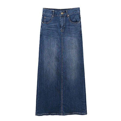 East Castle Women's High Waist Denim Skirt W-299-1 4XL/US 16