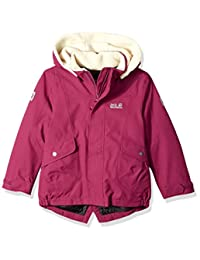 Jack Wolfskin Great Bear - Chamarra Impermeable con Aislamiento Sherpa para niña
