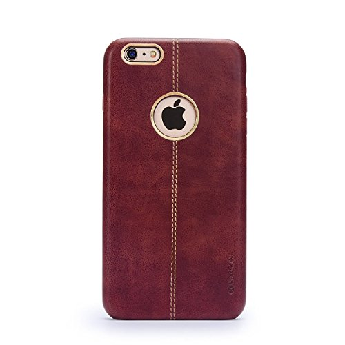 5s Case,iPhone 5S Case Slim Fit,High-grade Leather Soft Simple Cover Case for Apple iPhone5s/ 5SE-Brown - High Grade Leather