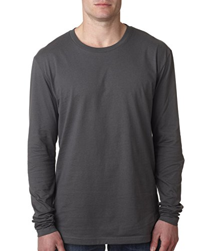 Next Level Apparel mens Next Level Premium Fitted Long-Sleeve Crew(N3601)-HEAVY - Sale Outlet Premium