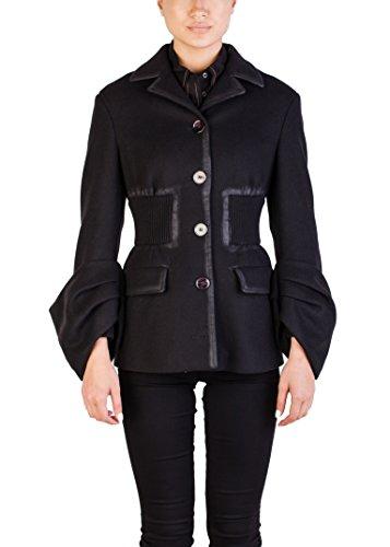 Prada Women's Wool Nylon Blend Vintage Coat (Nylon Vintage Coat)
