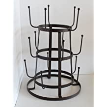 Rustic Iron French Wine / Beer / Baby Bottle Dryer Tree Glass Cup Drying Rack Home Supply Maintenance Store