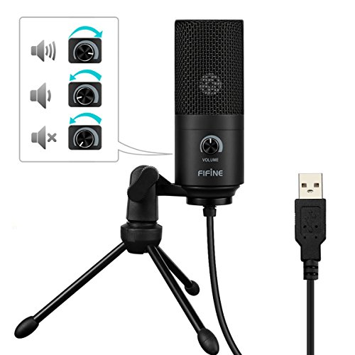 USB Microphone,Fifine Metal Condenser Recording Microphone For Laptop MAC Or Windows Cardioid Studio Recording Vocals, Voice Overs,Streaming Broadcast And YouTube Videos.(669B) - Image 4