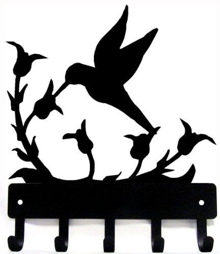 The Metal Peddler Key Rack Hooks - Hummingbird at Wildflower - Small 6 inch