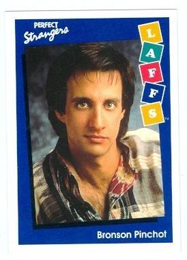 (Perfect Strangers trading card 1991 Impel Laffs #53 Bronson Pinchot as Balki Bartokomous)