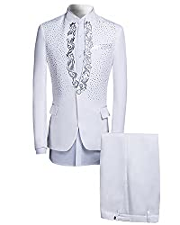 Men's One Button Sequin Jacket and Pants