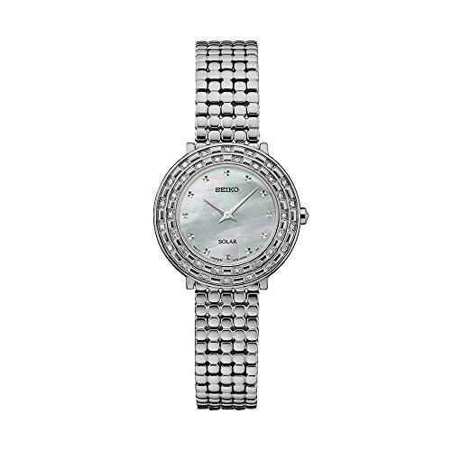 Seiko Women's 'TRESSIA' Quartz Stainless Steel Casual Watch, Color:Silver-Toned (Model: SUP373)