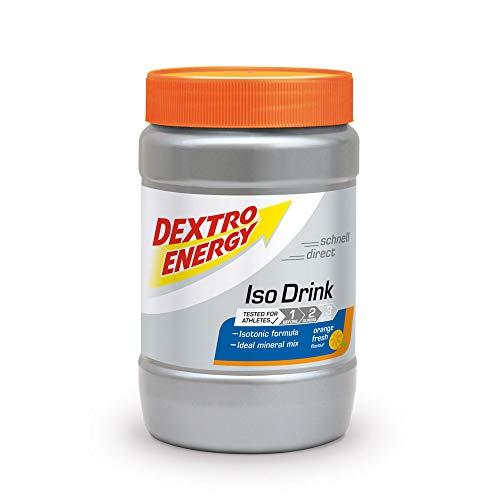 Isotonisches Getränkepulver von Dextro Energy | Iso Fast Orange Fresh | 440g Fitness Getränkepulver mit Elektrolyte | Ideales Sport Pulver Getränk