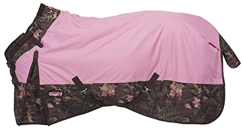 Tough 1 Timber 1200D Waterproof Poly Snuggit Turnout Blanket, Pink, 75
