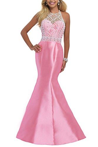 Bridal_Mall - Robe - Cocktail - Sans Manche - Femme -  Rose - 36