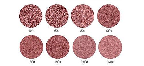 Bestsupplier 96 Pcs 5 Inch Sanding Discs Sandpaper Sander Pads Sanding Sheets Assorted 40 60 80 100 150 180 240 320 Grits For Power Random Orbit Sanders
