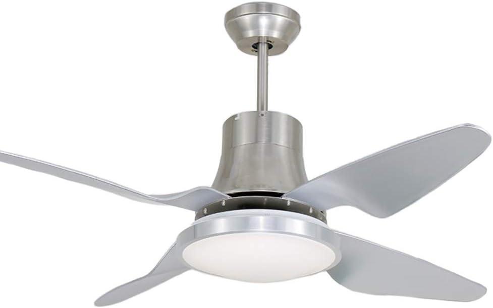 LSZ Luz de Ventilador de Techo LED Minimalista Moderna con luz de Ventilador Sala de Estar luz de Ventilador silenciosa de baño/Ventilador de Techo Luz del Ventilador de Techo