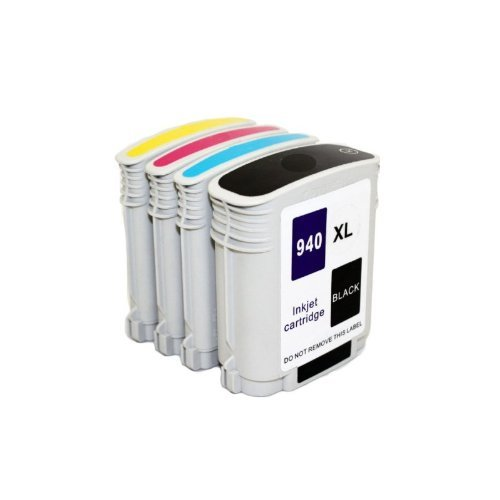 940 Combo Pack - Inkcool 4pack Remanufactured Ink Cartridge Replacement for HP 940XL hp 940 hp940 1 Black, 1 Cyan, 1 Magenta, 1 Yellow combo pack