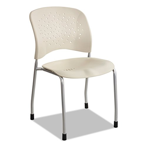 Safco Products 6805LT Reve Guest Chair Straight Leg with Round Back, (Qty. 2), Latte - Guest Smart Leg
