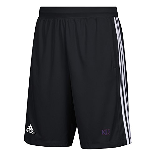 adidas Kansas Jayhawks KU Men's Shorts 3 Stripes Knit Short (XXX-Large)