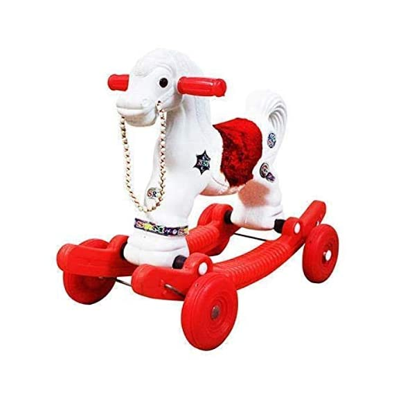 Rumani Made in India Baby Horse Rider for Kids 1-3 Years Birthday Gift for Kids/Boys/Girls/Horsey Rocker/Ride-on Toy for