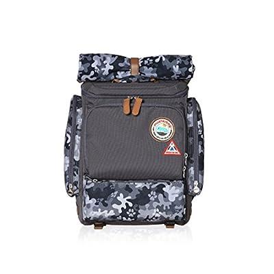 46e34373f3 Muster bag Kids Backpack + Cross Bag Set - Trendy Camouflage Pattern School  Backpacks For Girls