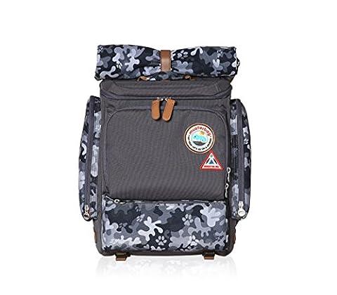 Muster bag Kids Backpack + Cross Bag Set - Trendy Camouflage Pattern School Backpacks For Girls Boys Kids Elementary Middle School Bags Cute Bookbag Outdoor Daily bag (Tag Junior Books Thomas)