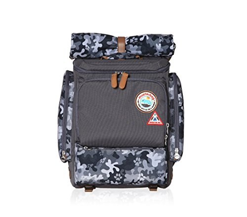Muster bag Kids Backpack + Cross Bag Set - Trendy Camouflage Pattern School Backpacks For Girls Boys Kids Elementary Middle School Bags Cute Bookbag Outdoor Daily bag (Black)