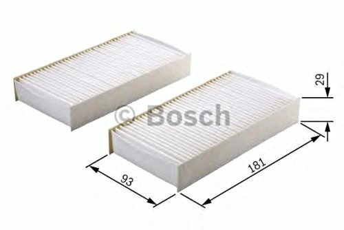 BOSCH Cabin Air Filter 2pcs SET Fits HONDA Hr-V GH 1999- 08R79 S2H 600