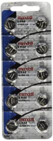 Maxell LR44 Batteries 10 Pack NEW holographic packaging