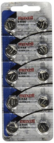 Maxell LR44 Batteries 10 Pack NEW holographic packaging (Holographic Computer Monitor)
