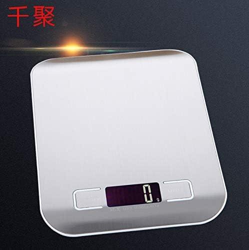 Unkne, bilancia da cucina impermeabile, digitale, bilancia da cucina in acciaio inox, facile da pulire, casa e cucina, 5 kg/1 g