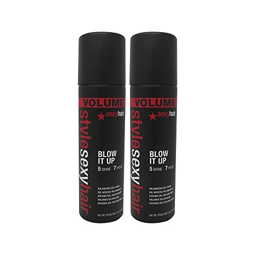 Bundle - 2 Items : Sexy Hair Blow It Up Volumizing Gel Foam,