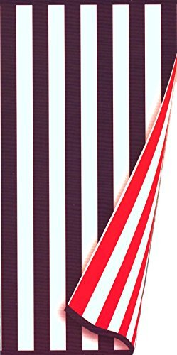 Charisma Resort Towel Reversible Americana 100% Pima Cotton Loops Red White Blue Stripe 35'' x 70''
