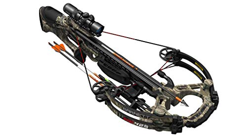 BARNETT HyperGhost 425 Crossbow in Mossy Oak Treestand Camo, Shoots 425 Feet Per Second and Includes Premium Illuminated 4X32 Scope (Best Compound Crossbow 2019)
