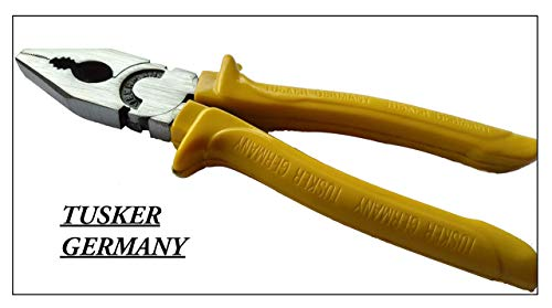 Pliers for Home uses VEERMAN'S Tusker Germany Drop FORGRD Steel Combination 8-Inch Pliers (Yellow) Price & Reviews