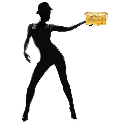 Oro In Caspar Giallo Tl717 Pochette Donna Pelle W70n6vHp