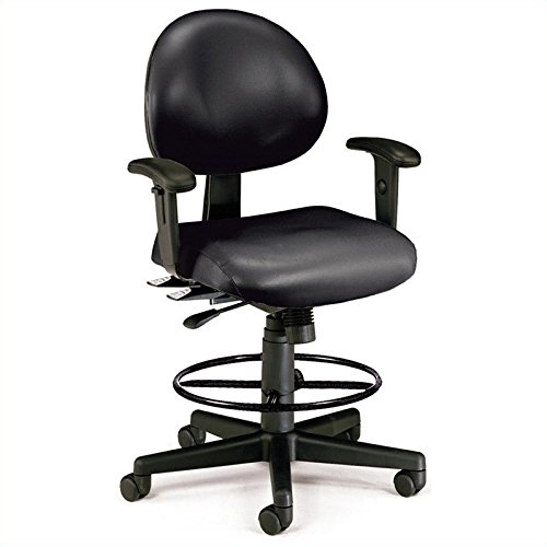 OFM 241-VAM-AADK-66 24 Hours Anti-Microbial/Anti-Bacterial Vinyl Computer Task Chair with Arms, Drafting Kit (Antibacterial Vinyl)