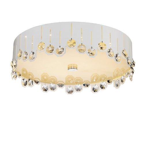 LED Crystal Ceiling Light Modern Living Room Light Bedroom Lamp (White)