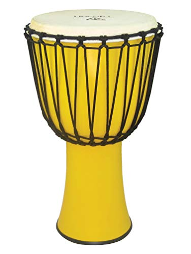 Tycoon Percussion 12 FIBERGLASS ROPE TUNED DJEMBE YELLOW FINISH, TFAJ-12HV)