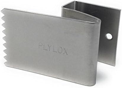 """PLYLOX オリジナル 特許取得済 Hurricane ウィンドウクリップ 20個パック 錆に強いステンレススチール製 再利用可 試験場検査済み 工具不要 100%アメリカ製 3/4"""" PLY-05"""