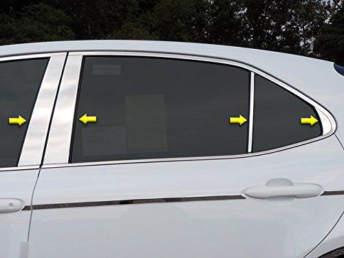 QAA FITS Camry 2018-2019 Toyota (8 Pc: Stainless Steel Pillar Post Trim Kit, 4-Door) PP18132 (Toyota Camry Pillar)