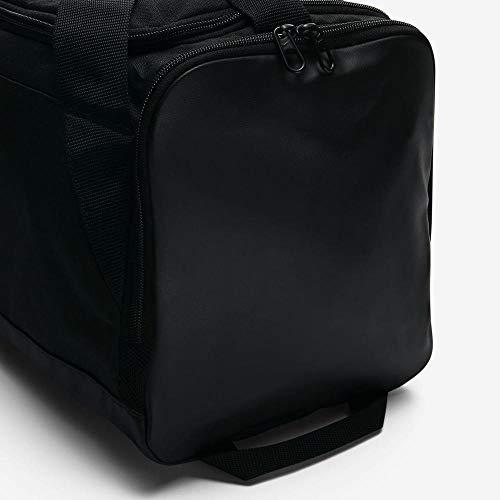 NIKE Brasilia Training Duffel Bag, Black/Black/White, X-Small