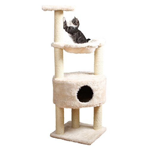 TRIXIE-Pet-Products-Baza-Grande-Cat-Tower-Cream